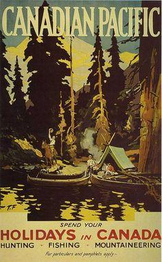Vintage Canadian Pacific travel tourism poster