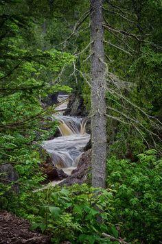 Cascades by Justin Baysinger on Capture Minnesota,  Cascade River State Park