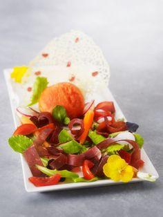 Salade aux couleurs de l'été & son sorbet Gaspacho / Summer colors salad & gazpacho sorbet