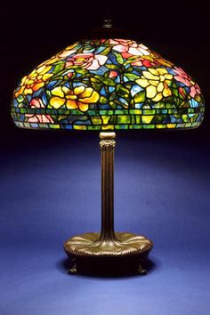 Authentic Tiffany Lamps for Sale | Interior Stained Glass by Kevin P. Hendon Title: Peony, created in ...
