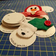Orsetto polare, agrifoglio e pupazzo di neve: spille! #diy  #feltro #christmas