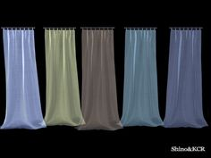 matching the former Set with Loftcurtains smallest Size Found in TSR Category 'Sims 4 Curtains & Blinds'
