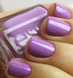 Radiant orchid color of year 2014. Essie makes gel polish in some of the favorite colors. Gel = scavenger hunt; regular polish = play date.