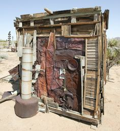 Noah Purifoy Outdoor Desert Museum is full of the visionary artist's assemblage sculpture made from junked objects