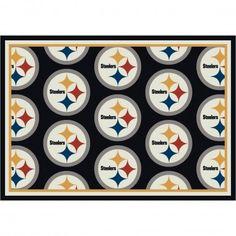 Milliken NFL Team Repeat Pittsburgh Steelers Football Rug - 1074-201