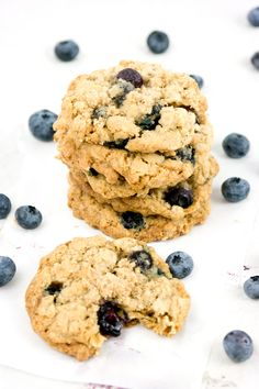 Fresh Blueberry Oatmeal Cookies Made these, they were really soft. Almost too soft.
