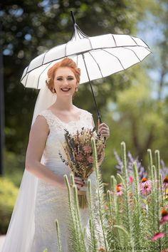 Gorgeous bridal portrait in the wildflower garden. Photo by Lola Jo Photo. Indoor Wedding Receptions, Wedding Ceremony, Wedding Venues, Wedding Photos, July Wedding, Bridal Portraits, Garden Wedding, Flower Girl Dresses, Weddings