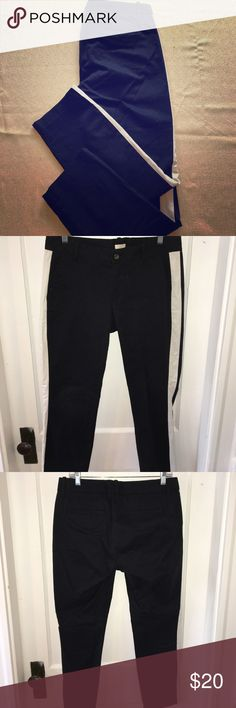 J.Crew Dress Pants Black with white side striped dress pants. Only worn once, in excellent condition. All reasonable offers considered. J. Crew Pants Straight Leg