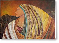 Lady Of The Mountains Greeting Card by Candy Mayer