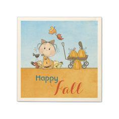 Shop Autumn Pumpkin Girl Napkins created by StarStock. Halloween Birthday, Girl Birthday, Birthday Parties, Monogrammed Napkins, Ecru Color, A Pumpkin, Anniversary Parties, Fall Pumpkins, Happy Fall