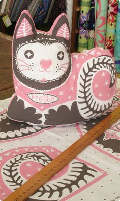 """""""pretty kitty"""" softie (comes as tea towel which you can use as is or sew into three dimensions!)  * """"pretty kitty tea towel"""" from cloth kits"""