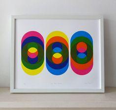 The Magic Number A large original screen print in by DekkoPress
