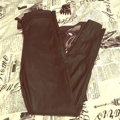 Leather Express leggings Very cute tight fitting leggings with zipper on the side Express Pants Leggings
