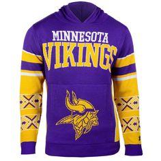 Minnesota Vikings Big Logo Sweater Pullover Hoodie - Purple - $59.99