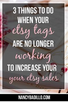 In this Etsy tutorial, I will be covering 3 things to do when your Etsy tags are no longer working for you in order to increase Etsy sales. Business Signs, Business Ideas, Craft Business, Business Opportunities, Starting An Etsy Business, Etsy Seo, Opening An Etsy Shop, E Design, Design Shop