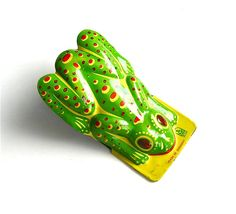 Click Instead of Ribbit - Vintage German Tin Frog Clicker Toy