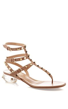 Naked Rockstud Transparent Sandal by Valentino Now Available on Moda Operandi
