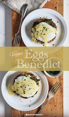 Vegetariánská vejce Benedikt