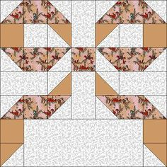 this would make an adorable crib quilt using different bright pastels! Quilt Block Patterns, Pattern Blocks, Quilt Blocks, Quilting Tutorials, Quilting Projects, Quilting Designs, Half Square Triangle Quilts, Square Quilt, Ribbon Quilt