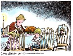 Remember those who cannot be with their families this Thanksgiving.