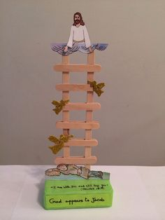 Jacob's Ladder - good craft for using up Popsicle sticks. No instructions, but good picture to figure it out.