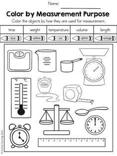 Spring Math Worksheets Grade) by United Teaching Teaching Measurement, Measurement Worksheets, 1st Grade Math Worksheets, First Grade Math, Teaching Math, Grade 1, Teaching Geography, Math Classroom, Kindergarten Math