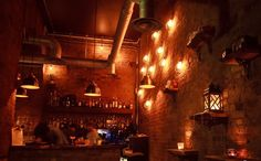 A late night drinks spot - with daytime food - in Farringdon more