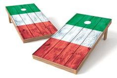 Italy Flag Single Cornhole Board-Vintage
