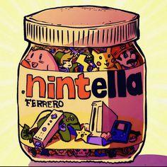 """Happy World Nutella Day guys!  Celebrate it well!  #nintendo #nintella #nutella"""