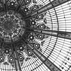 Amaze Me, Paris Photograph, Black and White Photograph, Fine Art Print, Square Photograph, Galeries Lafayette,  via Etsy.