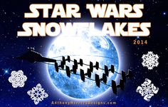 Paso Robles, California-based graphic designer Anthony Herrera, whose work we have written about in the past, has created a new series of DIY Star Wars-themed paper snowflake patterns for the 2014 . Paper Snowflake Template, Paper Snowflake Patterns, Paper Snowflakes, Snowflake Designs, Star Wars Christmas, Christmas Holidays, Christmas Ideas, Christmas Decor, Christmas Ornaments