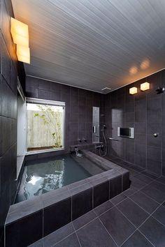 Attic Shower, Bathroom Tub Shower, Bathtub, Bathroom Interior, Modern Bathroom, Bathroom Color Schemes, Model House Plan, Luxury Shower, Lap Pools