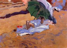 Little chubby baby ; Joaquin Sorolla y Bastida Child's Siesta Painting