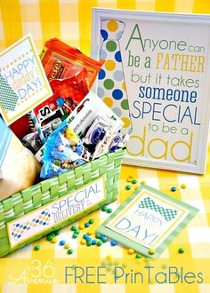 Father's Day Gift Idea and awesome free printable... Give him a special delivery of his favorite things!