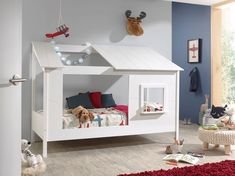 Lit Cabane Tree Κρεβάτι Σπιτάκι - Vipack Go Kids Athens House Beds For Kids, Kid Beds, Baby Beds, White Mid Sleeper, Playhouse Bed, Steel Bed Frame, Bed With Drawers, Childrens Beds, Kids Bedroom Furniture