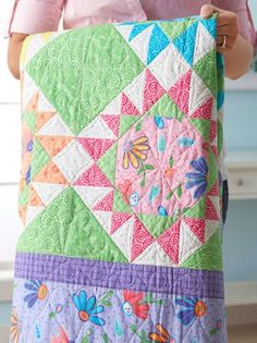 Color Your World Quilt Free Pattern Designed by Barb Groves and Mary Jacobson of Me and My Sister Designs for All People Quilt Star Quilts, Scrappy Quilts, Quilt Blocks, Star Blocks, Mini Quilts, Quilting Tutorials, Quilting Projects, Quilting Designs, Quilting Tips