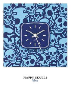 Happy Skulls blue