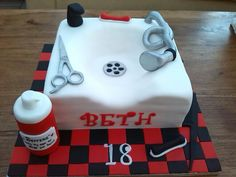 Hairdressing cake Occasion Cakes, Hairdresser, Special Occasion, Classy, Treats, Birthday, Desserts, Food, Pastries