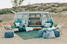 12 Lust-Worthy Wedding Lounges for Every Soonlyweds' Style 12 Lust-Worthy Wedding Lounges for Every Soonlyweds' Style turquoise-wedding-lounge-with-vintage-vw-bus Volkswagen Bus, Vw T1, Vw Camper, Volkswagen Beetles, Combi Vw T2, Combi Ww, Combi Hippie, Wolkswagen Van, Kombi Food Truck