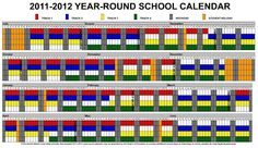 Year Round School schedule example
