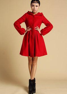 Camel Long woolen coat wool cape cloak long warmly cashmere coat ...