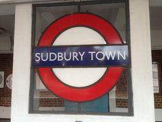 Sudbury Town London Underground Station in Sudbury, Greater London