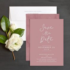 Pretty Pink Save the Date