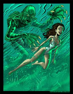mysterious creatures art deviant | Creature From the Black Lagoon by BryanBaugh