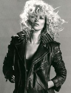 80s Biker Chic Babes - The Kate Moss Vogue Paris September 2010 Issue is Rocking & Rolling (GALLERY)