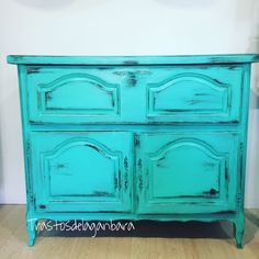 Aparador Verde Caribe  #workshop #vintageshop #chalkpaint #furniture #decapado #trastosdelaganbara #pasaia