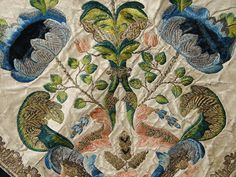 …from an 18th c. Italian silk and velvet embroidered panel…