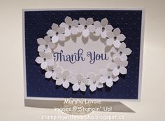 Stamping with Marsha: Petite Petals 'Thank You'