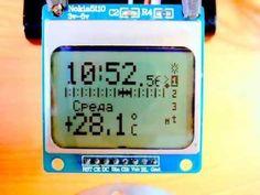 Недельный таймер , с дисплеем Nokia 5110. - Схемы радиолюбителей Diy Electronics, Cooking Timer, Arduino, Engineering, Display, Digital, Youtube, Projects, Electronic Schematics