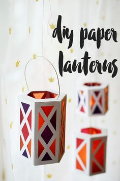 DIY paper lanterns to display at any holiday celebration - Halloween, St Martin, Thanksgiving - you name it!